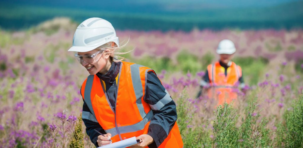 Female ecologist in the field
